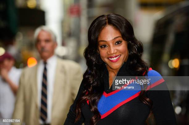 Actress Tiffany Haddish leaves the 'The Late Show With Stephen Colbert' taping at the Ed Sullivan Theater on August 15 2017 in New York City