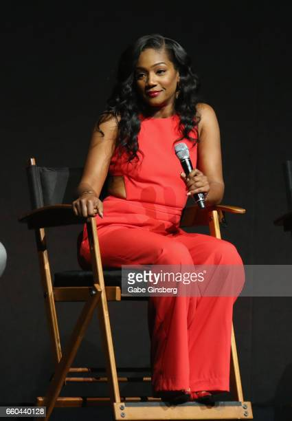 Actress Tiffany Haddish speaks at the Universal Pictures' presentation during CinemaCon at The Colosseum at Caesars Palace at on March 29 2017 in Las...