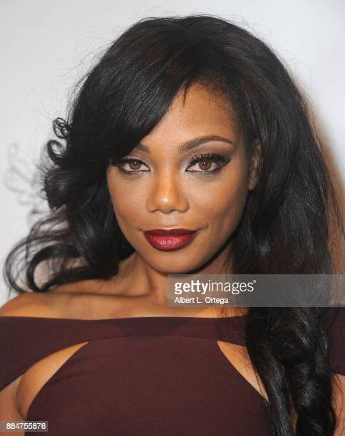Actress Tiffany Hines arrives for the TJ Scott Book Launch For 'In The Tub Volume 2' held at Cinematic Pictures Group Gallery on December 2 2017 in...