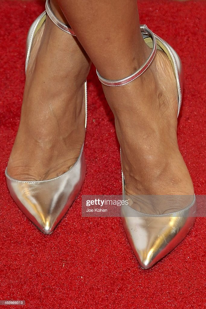 Actress Tiffany Hines (shoe detail) attends TJ Scott's 'In The Tub' book launch party at Light in Art on December 12, 2013 in Los Angeles, California.