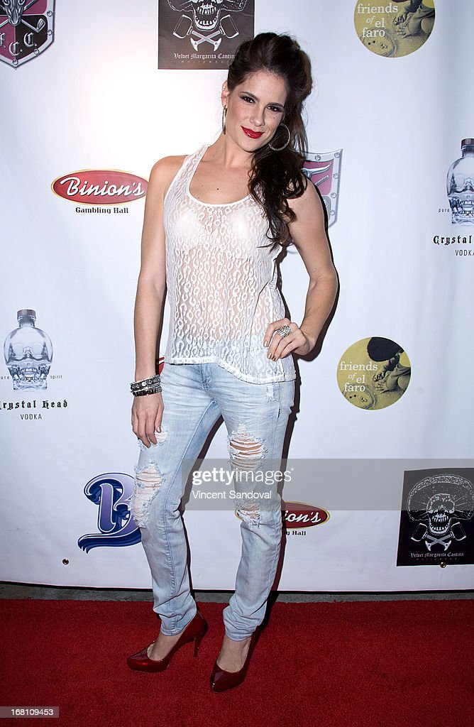 Actress Tiffany Michelle attends the 10th annual anniversary and Cinco De Mayo benefit with annual Charity Celebrity Poker Tournament at Velvet Margarita on May 4, 2013 in Hollywood, California.