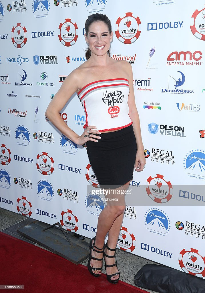 Actress Tiffany Michelle attends the 3rd annual Variety Charity Texas Hold 'Em Tournament & Casino Game at Paramount Studios on July 17, 2013 in Hollywood, California.