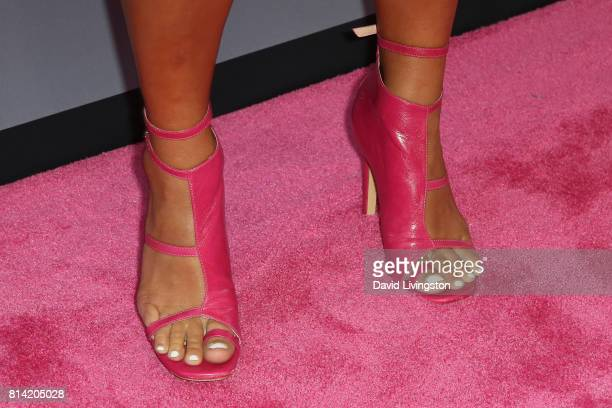 Actress Tiffany Smith shoe detail attends the premiere of Universal Pictures' 'Girls Trip' at Regal LA Live Stadium 14 on July 13 2017 in Los Angeles...