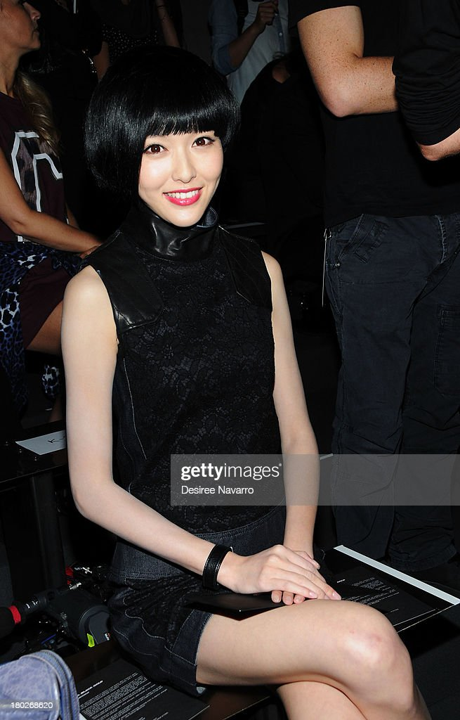 Actress Tiffany Tang attends the Diesel Black Gold show during Spring 2014 Mercedes-Benz Fashion Week at Vanderbilt Hall at Grand Central Terminal on September 10, 2013 in New York City.