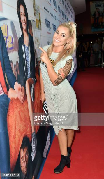 Actress Tiger Kirchharz during the ''Das Pubertier'' premiere at Mathaeser Filmpalast on July 4 2017 in Munich Germany