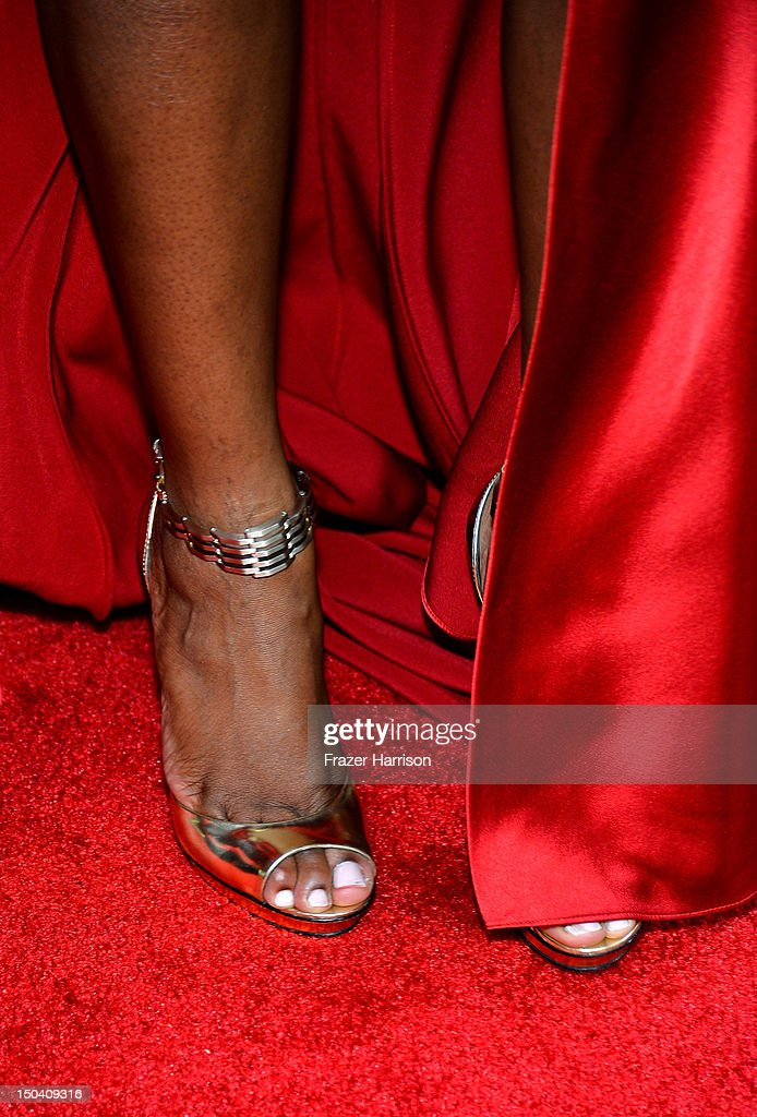 Actress Tika Sumpter (fashion detail) arrives at Tri-Star Pictures' 'Sparkle' premiere at Grauman's Chinese Theatre on August 16, 2012 in Hollywood, California.