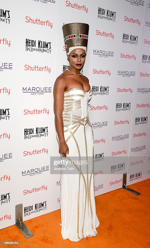 Actress Tika Sumpter attends the 2013 Heidi Klum Halloween Party at Marquee on October 31, 2013 in New York City.
