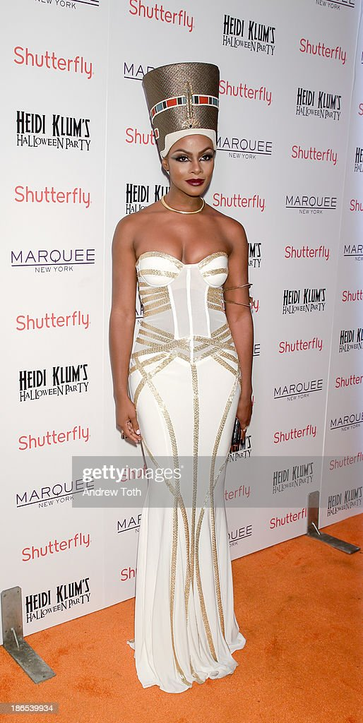 Actress <a gi-track='captionPersonalityLinkClicked' href=/galleries/search?phrase=Tika+Sumpter&family=editorial&specificpeople=4168370 ng-click='$event.stopPropagation()'>Tika Sumpter</a> attends the 2013 Heidi Klum Halloween Party at Marquee on October 31, 2013 in New York City.