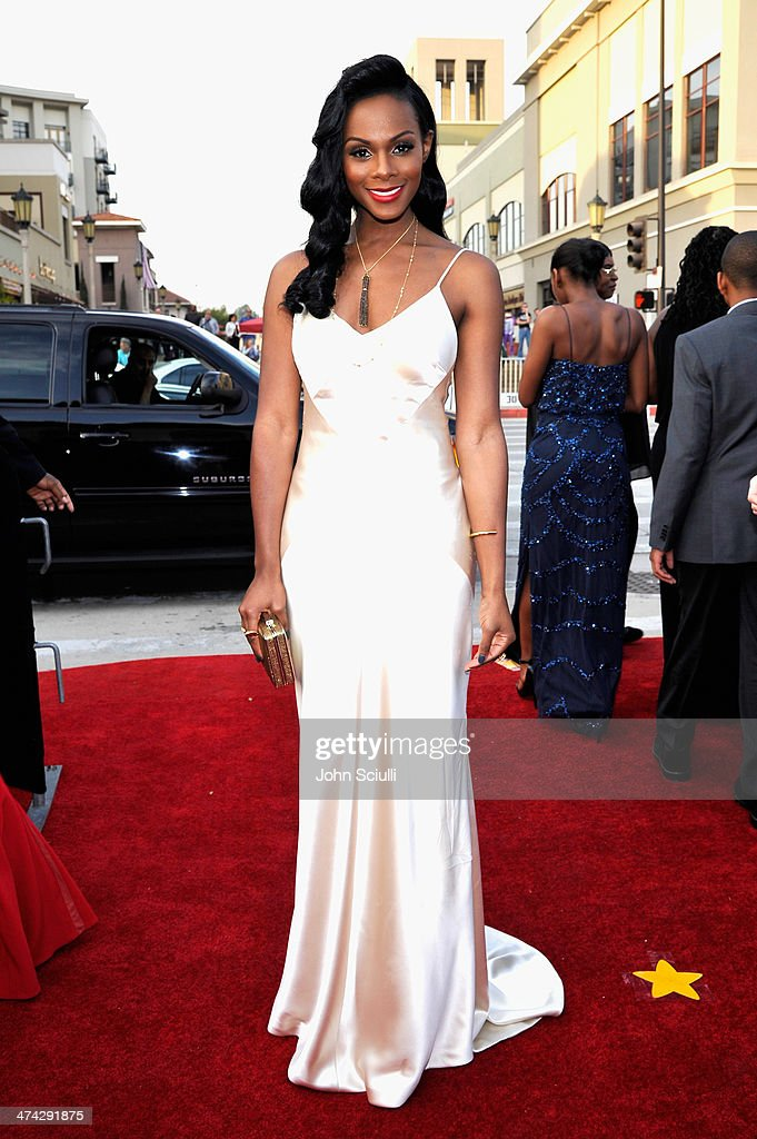 Actress <a gi-track='captionPersonalityLinkClicked' href=/galleries/search?phrase=Tika+Sumpter&family=editorial&specificpeople=4168370 ng-click='$event.stopPropagation()'>Tika Sumpter</a> attends the 45th NAACP Image Awards presented by TV One at Pasadena Civic Auditorium on February 22, 2014 in Pasadena, California.