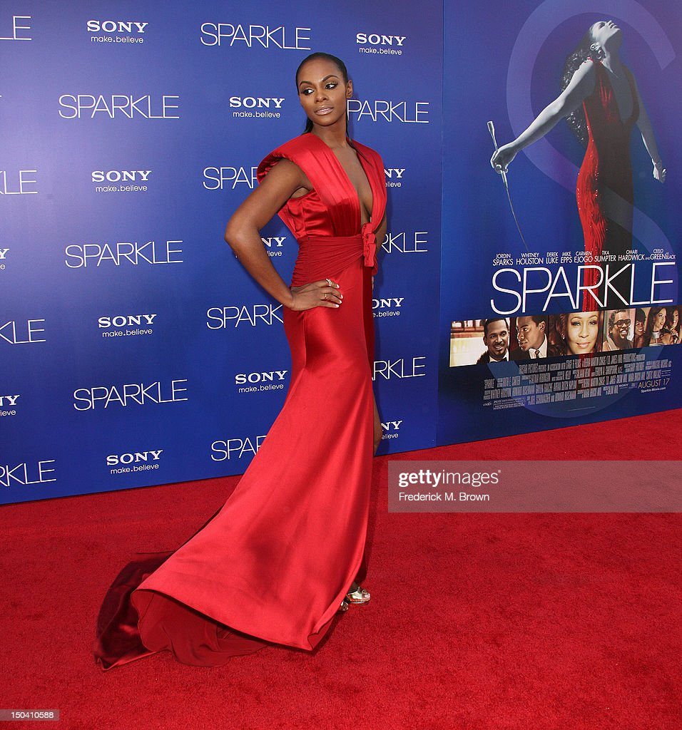 Actress Tika Sumpter attends the Premiere Of Tri-Star Pictures' 'Sparkle' at Grauman's Chinese Theatre on August 16, 2012 in Hollywood, California.
