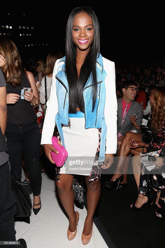 Actress Tika Sumpter attends the Rebecca Minkoff Spring 2013 fashion show for TRESemme during Mercedes-Benz Fashion Week at The Theater at Lincoln Center on September 7, 2012 in New York City.