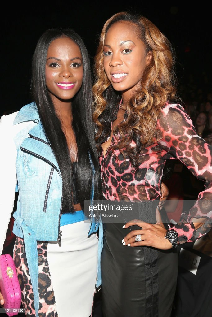 Actress <a gi-track='captionPersonalityLinkClicked' href=/galleries/search?phrase=Tika+Sumpter&family=editorial&specificpeople=4168370 ng-click='$event.stopPropagation()'>Tika Sumpter</a> (L) attends the Rebecca Minkoff Spring 2013 fashion show for TRESemme during Mercedes-Benz Fashion Week at The Theater at Lincoln Center on September 7, 2012 in New York City.