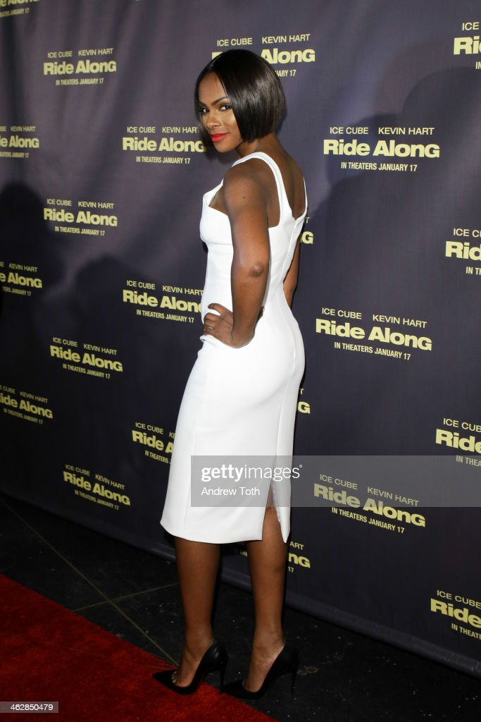 Actress <a gi-track='captionPersonalityLinkClicked' href=/galleries/search?phrase=Tika+Sumpter&family=editorial&specificpeople=4168370 ng-click='$event.stopPropagation()'>Tika Sumpter</a> attends the 'Ride Along' screening at AMC Loews Lincoln Square on January 15, 2014 in New York City.