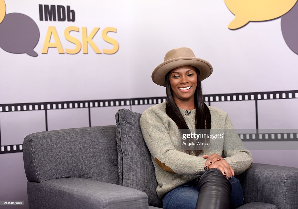 Actress Tika Sumpter in the IMDb Studio In Park City for 'IMDb Asks': Day Two - on January 23, 2016 in Park City, Utah.