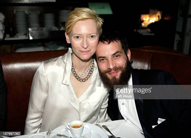 Actress Tilda Swinton and artist Sandro Kopp attend an intimate dinner to celebrate the opening of Pomellato's Rodeo Drive boutique hosted by...