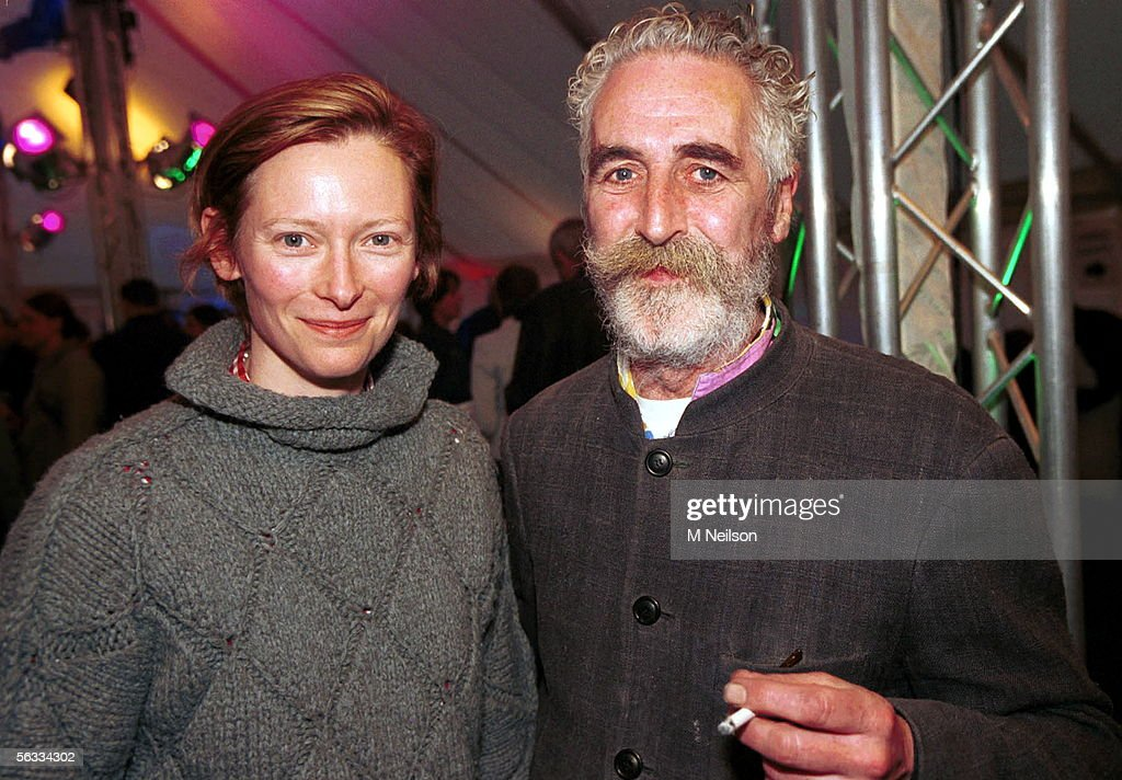 Actress Tilda Swinton and partner artist John Byrne attend the book launch for the 100th Canongate Classic at the National Gallery on April 27 2004...