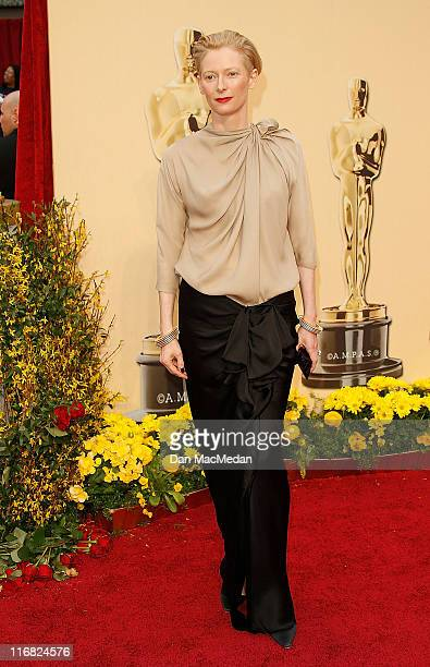 Actress Tilda Swinton arrives at the 81st Academy Awards at The Kodak Theatre on February 22 2009 in Hollywood California
