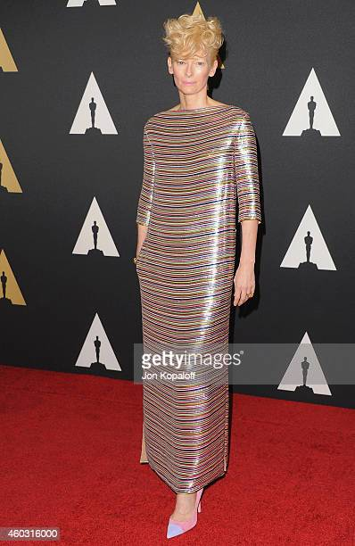 Actress Tilda Swinton arrives at the Academy Of Motion Picture Arts And Sciences' Governors Awards at The Ray Dolby Ballroom at Hollywood Highland...
