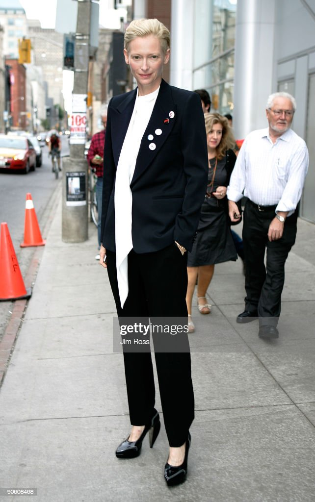 Actress Tilda Swinton arrives at the 'Io Sono L'Amore I Am Love' screening during the Toronto International Film Festival held at the Scotiabank...