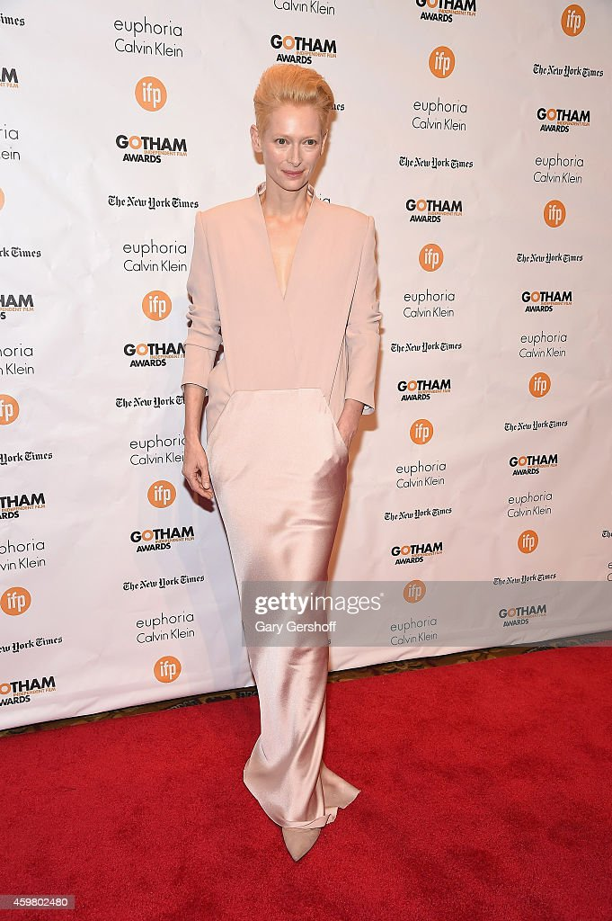 Actress Tilda Swinton attends IFP's 24th Gotham Independent Film Awards at Cipriani Wall Street on December 1 2014 in New York City