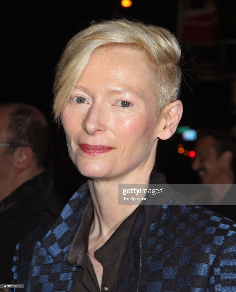 Actress Tilda Swinton attends Sony Pictures Classics' 'Only Lovers Left Alive' screening hosted by The Cinema Society and Stefano Tonchi Editor in...