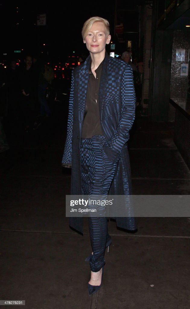 Actress <a gi-track='captionPersonalityLinkClicked' href=/galleries/search?phrase=Tilda+Swinton&family=editorial&specificpeople=202991 ng-click='$event.stopPropagation()'>Tilda Swinton</a> attends Sony Pictures Classics' 'Only Lovers Left Alive' screening hosted by The Cinema Society and Stefano Tonchi, Editor in Chief of W Magazine at Landmark's Sunshine Cinema on March 12, 2014 in New York City.
