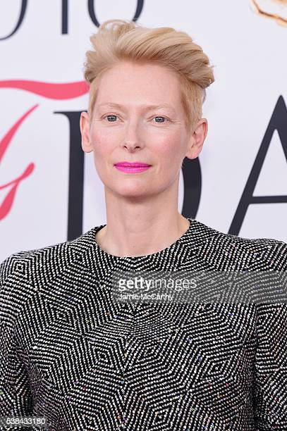 Actress Tilda Swinton attends the 2016 CFDA Fashion Awards at the Hammerstein Ballroom on June 6 2016 in New York City