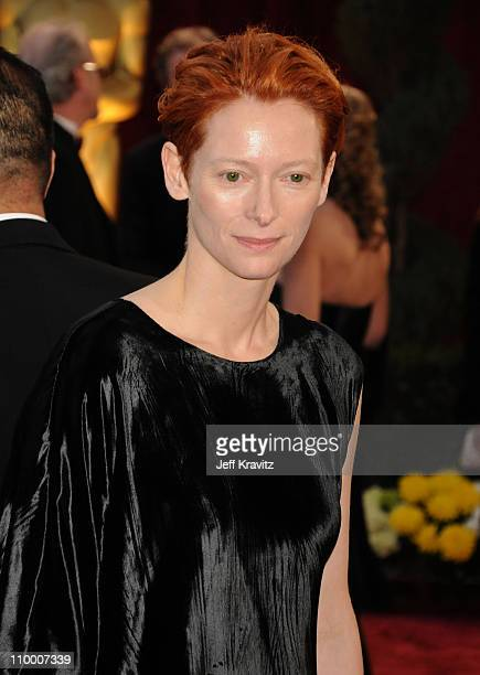 Actress Tilda Swinton attends the 80th Annual Academy Awards at the Kodak Theatre on February 24 2008 in Los Angeles California