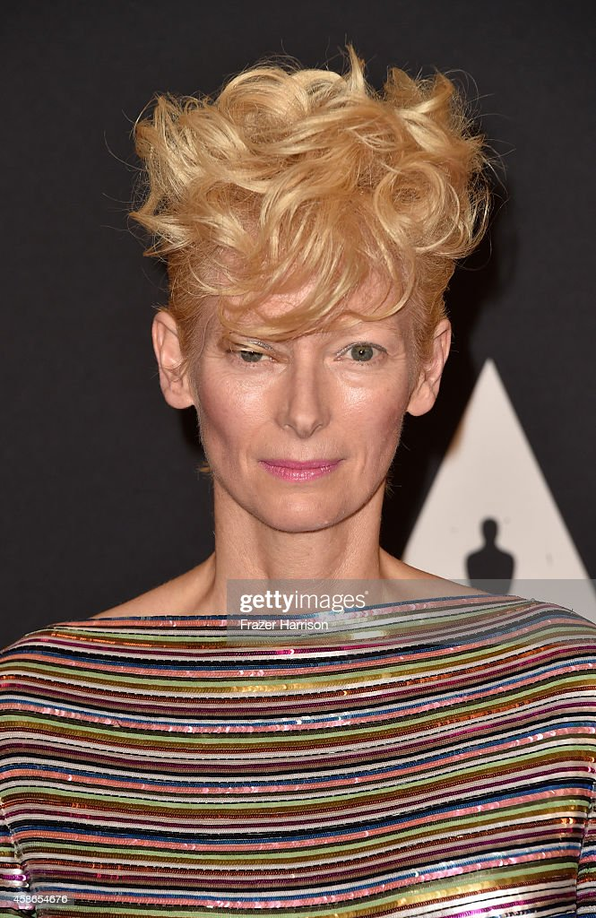 Actress Tilda Swinton attends the Academy Of Motion Picture Arts And Sciences' 2014 Governors Awards at The Ray Dolby Ballroom at Hollywood Highland...