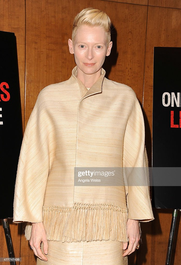 Actress <a gi-track='captionPersonalityLinkClicked' href=/galleries/search?phrase=Tilda+Swinton&family=editorial&specificpeople=202991 ng-click='$event.stopPropagation()'>Tilda Swinton</a> attends The Academy of Motion Picture Arts & Sciences screening of 'Only Lovers Left Alive' at Bing Theatre At LACMA at Bing Theatre At LACMA on March 10, 2014 in Los Angeles, California.