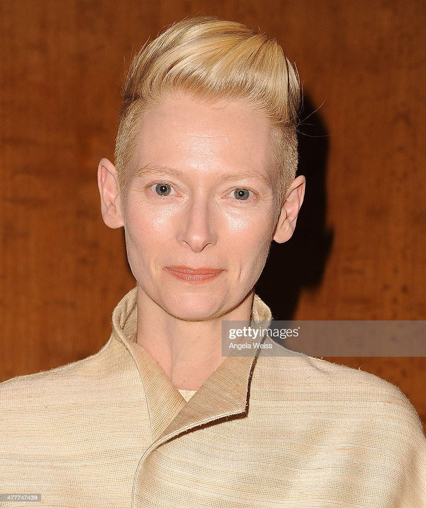 Actress Tilda Swinton attends The Academy of Motion Picture Arts & Sciences screening of 'Only Lovers Left Alive' at Bing Theatre At LACMA at Bing Theatre At LACMA on March 10, 2014 in Los Angeles, California.