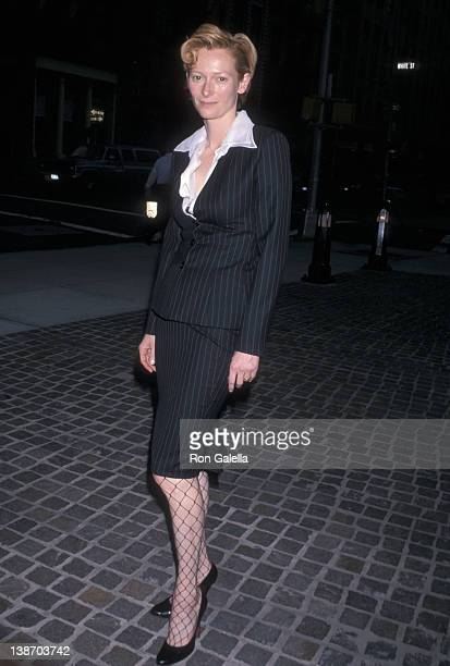 Actress Tilda Swinton attends 'The Deep End' New York City Premiere on July 19 2001 at the Tribeca Grand Screening Room in New York City