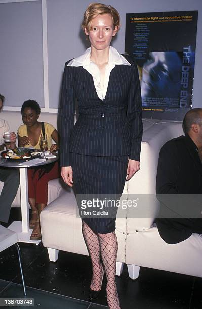 Actress Tilda Swinton attends 'The Deep End' Premiere Party on July 19 2001 at Ultra in New York City