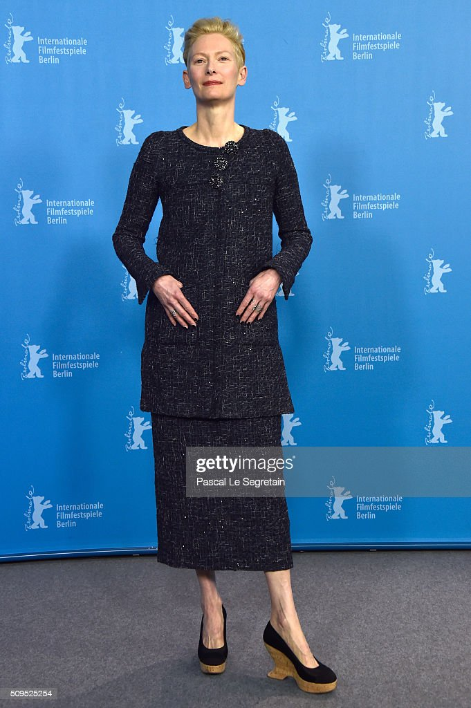 Actress Tilda Swinton attends the 'Hail Caesar' photo call during the 66th Berlinale International Film Festival Berlin at Grand Hyatt Hotel on...