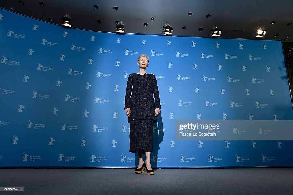 Actress <a gi-track='captionPersonalityLinkClicked' href=/galleries/search?phrase=Tilda+Swinton&family=editorial&specificpeople=202991 ng-click='$event.stopPropagation()'>Tilda Swinton</a> attends the 'Hail, Caesar!' photo call during the 66th Berlinale International Film Festival Berlin at Grand Hyatt Hotel on February 11, 2016 in Berlin, Germany.