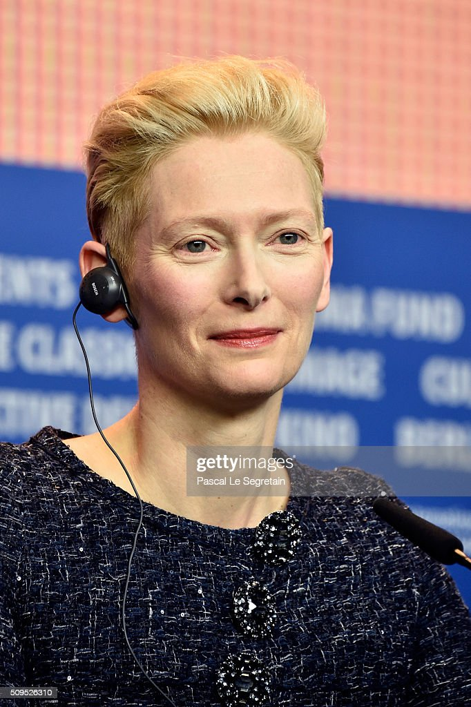 Actress <a gi-track='captionPersonalityLinkClicked' href=/galleries/search?phrase=Tilda+Swinton&family=editorial&specificpeople=202991 ng-click='$event.stopPropagation()'>Tilda Swinton</a> attends the 'Hail, Caesar!' press conference during the 66th Berlinale International Film Festival Berlin at Grand Hyatt Hotel on February 11, 2016 in Berlin, Germany.