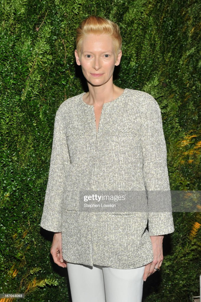 Actress <a gi-track='captionPersonalityLinkClicked' href=/galleries/search?phrase=Tilda+Swinton&family=editorial&specificpeople=202991 ng-click='$event.stopPropagation()'>Tilda Swinton</a> attends The Museum of Modern Art Film Benefit: A Tribute to <a gi-track='captionPersonalityLinkClicked' href=/galleries/search?phrase=Tilda+Swinton&family=editorial&specificpeople=202991 ng-click='$event.stopPropagation()'>Tilda Swinton</a> reception at Museum of Modern Art on November 5, 2013 in New York City.