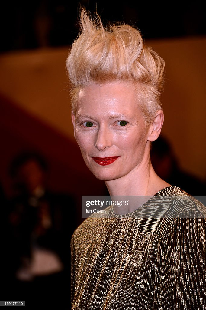 Actress <a gi-track='captionPersonalityLinkClicked' href=/galleries/search?phrase=Tilda+Swinton&family=editorial&specificpeople=202991 ng-click='$event.stopPropagation()'>Tilda Swinton</a> attends the 'Only Lovers Left Alive' premiere during The 66th Annual Cannes Film Festival at the Palais des Festivals on May 25, 2013 in Cannes, France.
