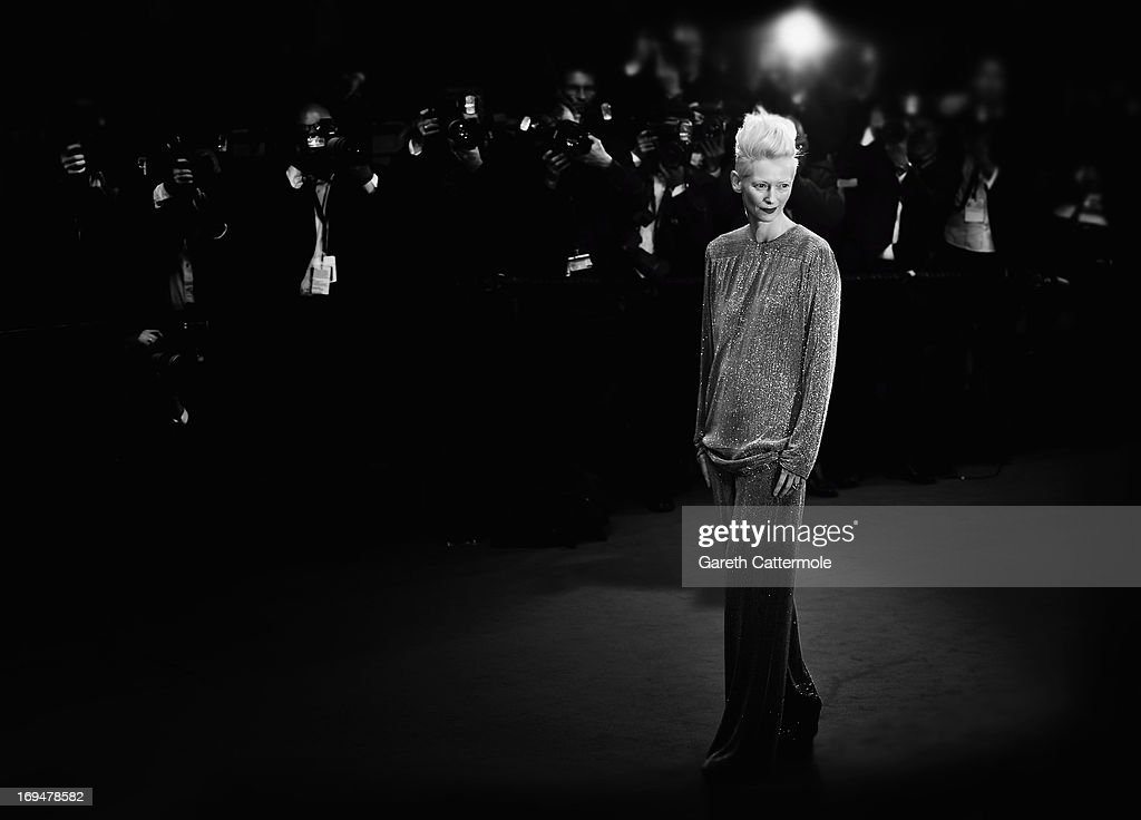 Actress Tilda Swinton attends the 'Only Lovers Left Alive' premiere during The 66th Annual Cannes Film Festival at the Palais des Festivals on May 25, 2013 in Cannes, France.