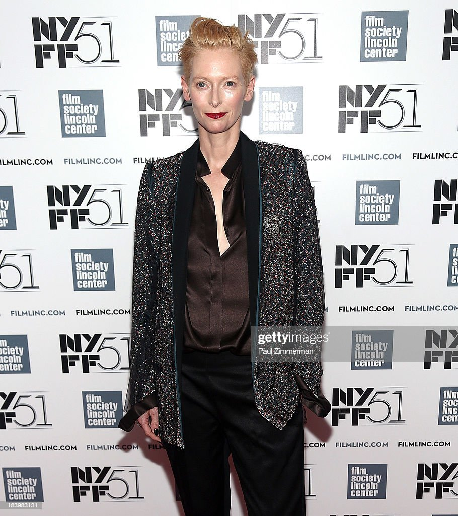 51st new york film festival actress tilda swinton attends the only lovers left alive premiere during the 51st new sciox Image collections