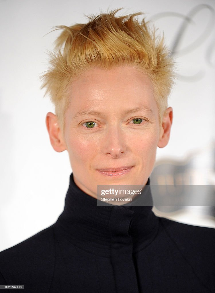 Actress Tilda Swinton attends the premiere of 'I Am Love' at the School of Visual Arts Theater on June 16, 2010 in New York City.