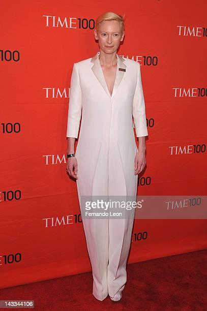 Actress Tilda Swinton attends the TIME 100 Gala celebrating TIME'S 100 Most Influential People In The World at Jazz at Lincoln Center on April 24...