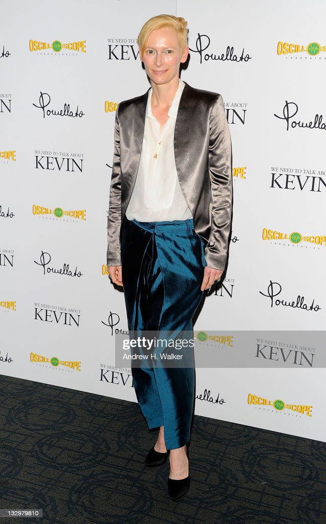 Actress Tilda Swinton attends the 'We Need to Talk About Kevin' screening at the Sunshine Landmark on November 15 2011 in New York City