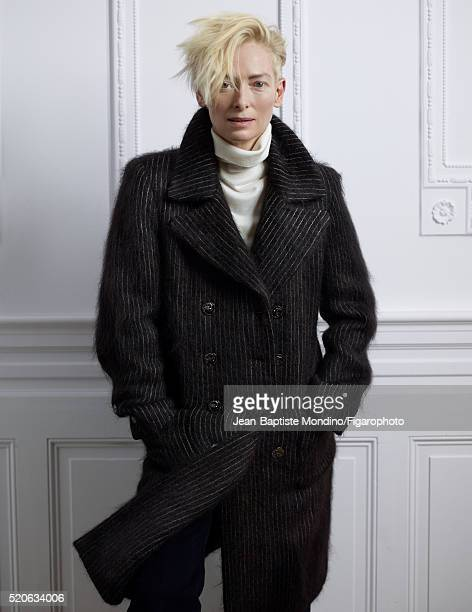 Actress Tilda Swinton is photographed for Madame Figaro on February 6 2016 in Paris France Coat sweater pants PUBLISHED IMAGE CREDIT MUST READ...