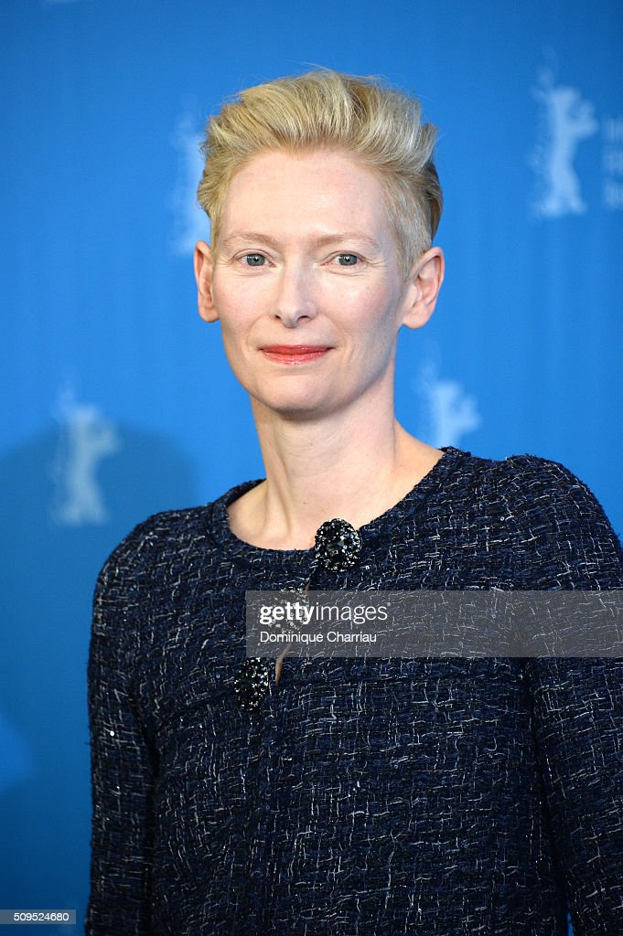 Actress <a gi-track='captionPersonalityLinkClicked' href=/galleries/search?phrase=Tilda+Swinton&family=editorial&specificpeople=202991 ng-click='$event.stopPropagation()'>Tilda Swinton</a> poses during the 'Hail, Caesar!' photo call during the 66th Berlinale International Film Festival Berlin at Grand Hyatt Hotel on February 11, 2016 in Berlin, Germany.