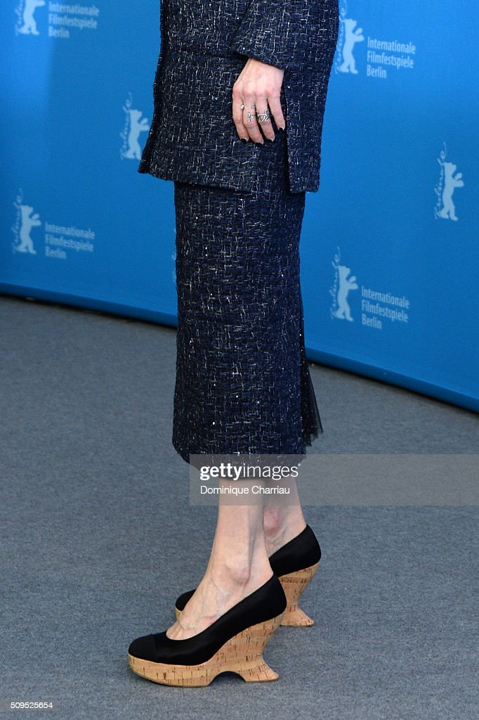 Actress <a gi-track='captionPersonalityLinkClicked' href=/galleries/search?phrase=Tilda+Swinton&family=editorial&specificpeople=202991 ng-click='$event.stopPropagation()'>Tilda Swinton</a>, shoe detail, attends the 'Hail, Caesar!' photo call during the 66th Berlinale International Film Festival Berlin at Grand Hyatt Hotel on February 11, 2016 in Berlin, Germany.