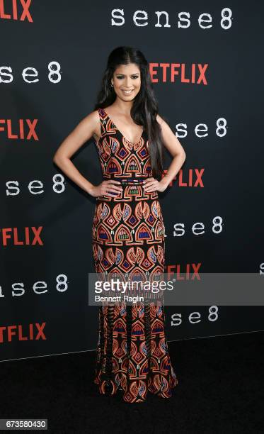 Actress Tina Desai attends the 'Sense8' New York premiere at AMC Lincoln Square Theater on April 26 2017 in New York City