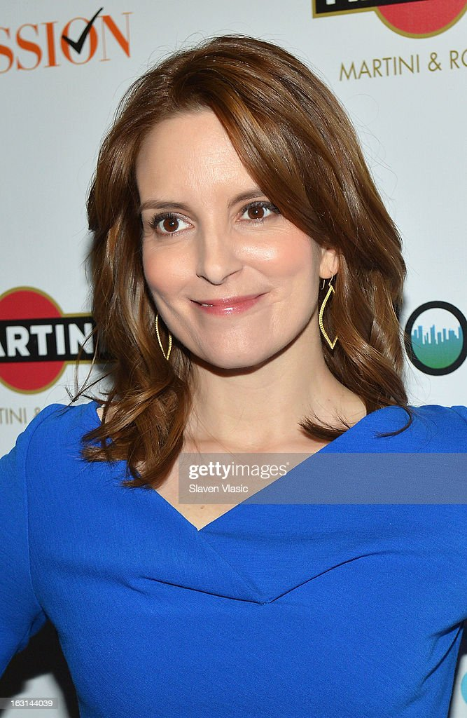 Actress Tina Fay attends The MOMS Celebrate the Release Of 'Admission' at Disney Screening Room on March 5, 2013 in New York City.