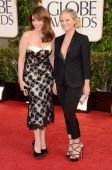 Actress Tina Fey and actress Amy Poehler arrive at the 70th Annual Golden Globe Awards held at The Beverly Hilton Hotel on January 13 2013 in Beverly...