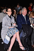 Actress Tina Fey and Graydon Carter attend the Carolina Herrera fashion show during MercedesBenz Fashion Week Fall 2014 at Lincoln Center for the...